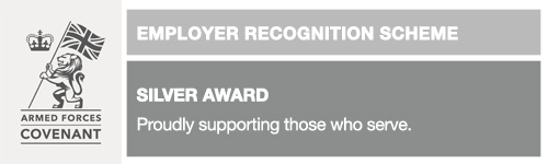 Armed Forces Covenant Employee Recognition Scheme silver award logo