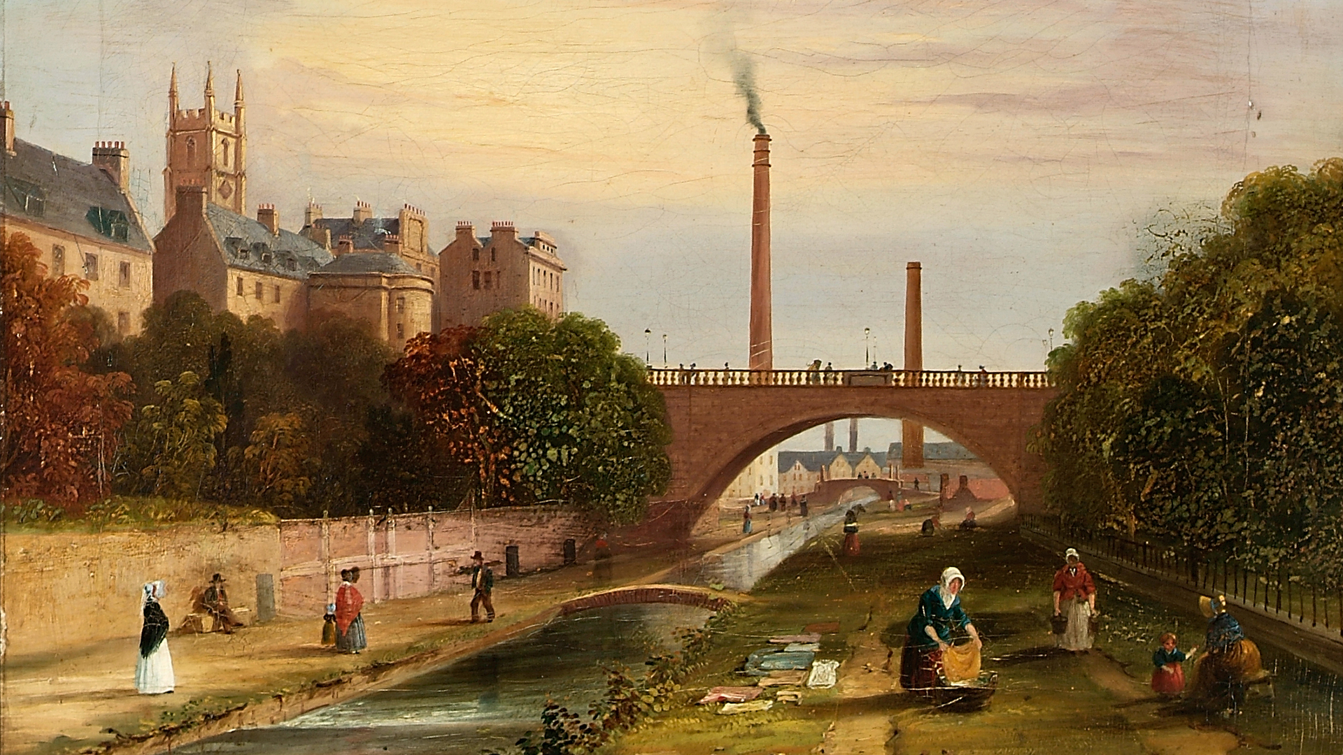 Denburn-with-Bleach-Green-and-Union-Bridge-Aberdeen-1824-1849