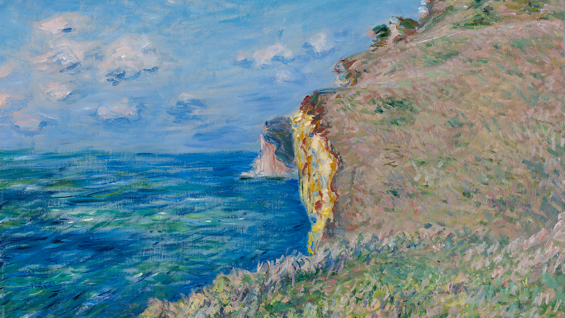 La-Falaise-a-Fecamp-1881-by-Claude-Monet