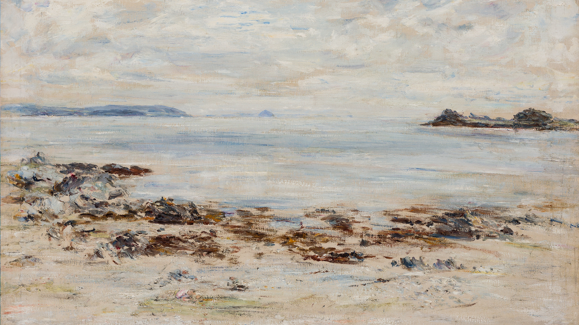 The-White-Calm-Ailsa-Craig-from-Port-an-Righ-1901-by-William-McTaggart